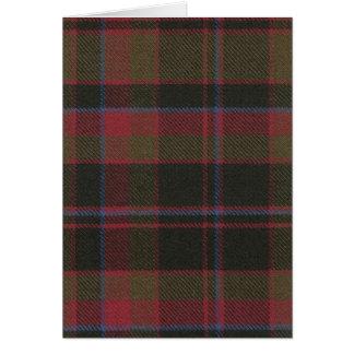 Greeting Card Buchan Clan Weathered Tartan