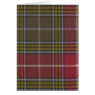 Greeting Card Buchanan Old Weathered Tartan