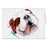 Greeting Card, Bulldog Drawing