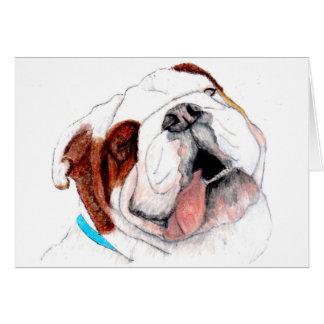 Greeting Card, Bulldog Drawing Card