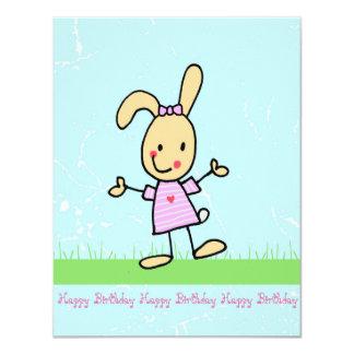 Greeting card, bunny, cartoon card