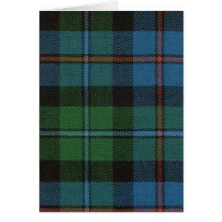 Greeting Card Campbell of Cawdor Ancient Tartan