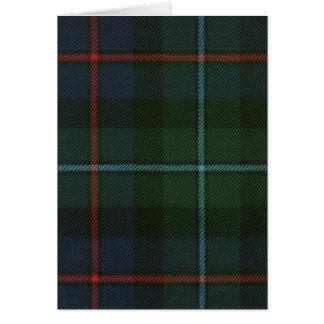 Greeting Card Campbell of Cawdor Modern Tartan