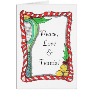 Greeting Card -Candy Cane Tennis