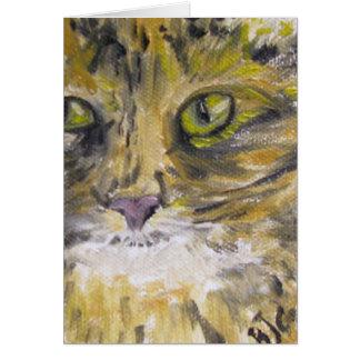 Greeting Card - Cat Art - Lady