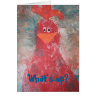 """Greeting Card """"Chicken on you"""""""