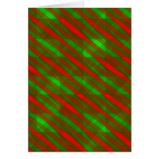 Greeting Card Christmas Colours Slats 2