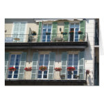 GREETING CARD -  Colourful shutters NiceFrance