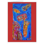 Greeting Card - Cool Blue Jazz