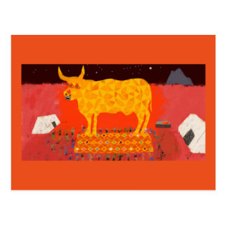Greeting card Dance around the Golden Calf