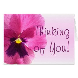 Greeting Card - Dark Pink Pansy