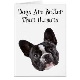 Greeting Card: Dogs Are Better Than Humans Card