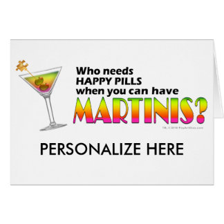 Greeting Card - Don't just stand there MARTINI ME!