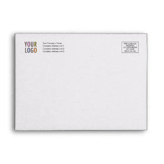 Greeting Card Envelope A7 Logo Address Indicia