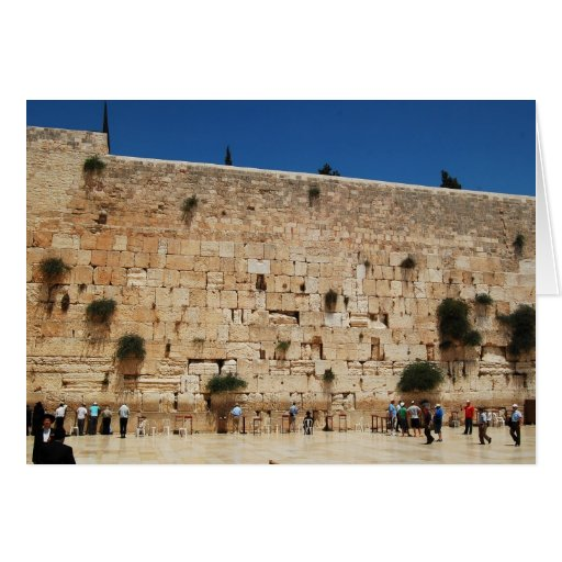 Greeting card featuring the Western Wall