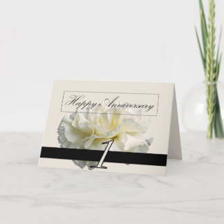 Greeting Card - First Anniversary Carnation