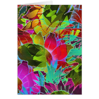 Greeting Card Floral Abstract Artwork