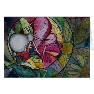"Greeting Card: ""Flower Spider"""