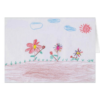 """GREETING CARD: """"Flowers"""" by Duong Chi Phi Card"""