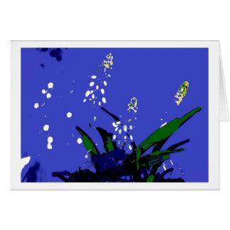 Greeting Card Flowers Pop kind blue