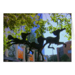 Greeting Card-flying horses