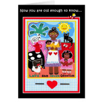 Greeting card for African American birthdays