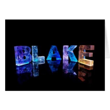 Greeting Card for Blake