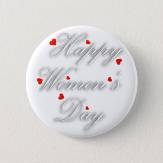 Greeting card for international womens day button