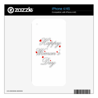 Greeting card for international womens day decals for iPhone 4S