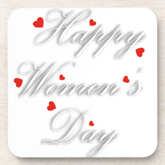 Greeting card for international womens day drink coaster
