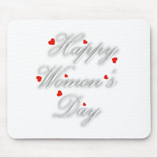 Greeting card for international womens day mouse pad
