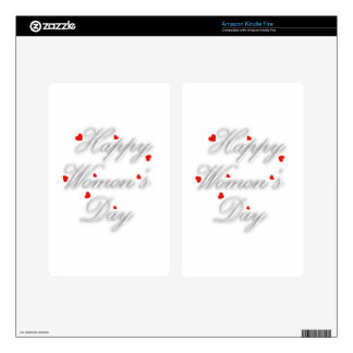 Greeting card for international womens day skin for kindle fire