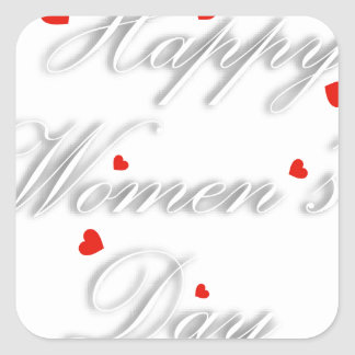 Greeting card for international womens day square sticker