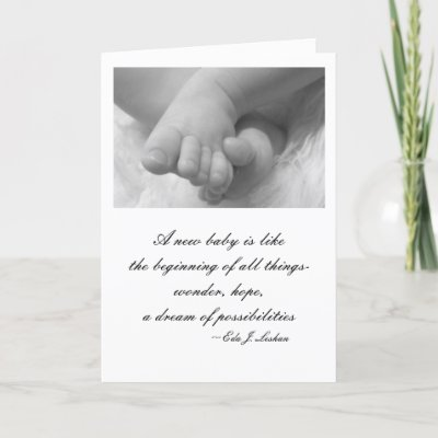 Baby Picture Quotes on Photograph Of Little Baby Feet With A Touching Quote About A New Baby
