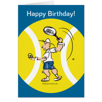 Greeting card for tennis players