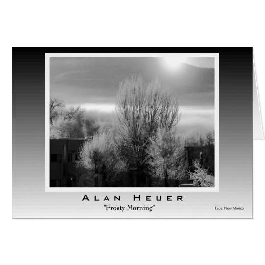"""Greeting Card - """"Frosty Morning"""""""