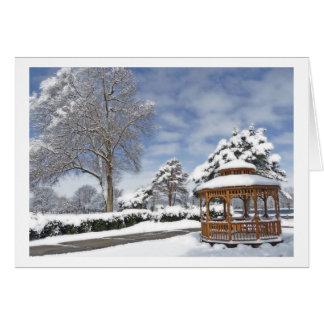 GREETING CARD/ GAZEBO IN THE SNOW CARD