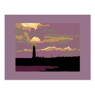 Greeting card gift Sunset lighthouse St. John's pt