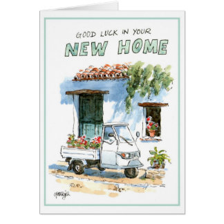 Greeting card - good luck in your new home