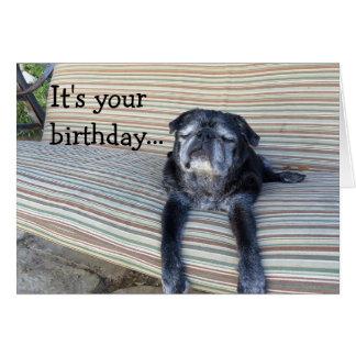 Greeting card: Happy birthday/Close your eyes Card
