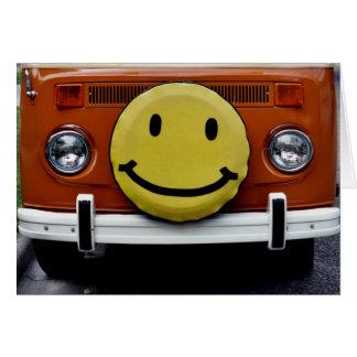 Greeting Card: Happy Face Van Card