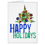 Greeting Card Happy Holidays Christmas Tree