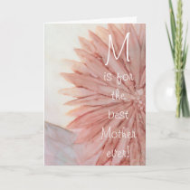 "Greeting Card ""Happy Mother's Day"" Pink Flower"