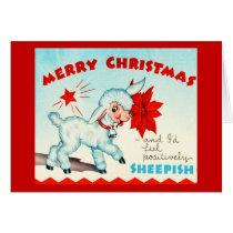 Greeting Card-Holiday Art-Vintage Christmas 15 Card