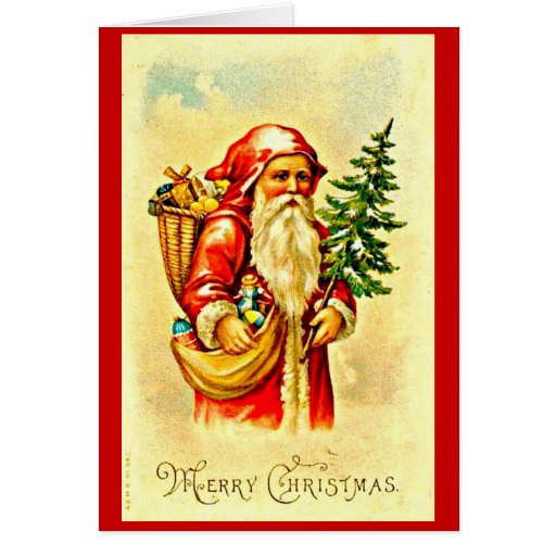 Greeting Card-Holiday Art-Vintage Christmas 45 Stationery Note Card