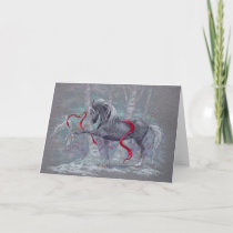 Greeting Card - Holiday Unicorn Snow Bird