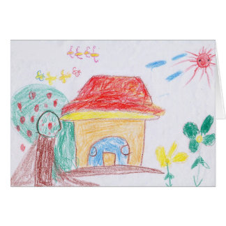 "GREETING CARD: ""Home"" by Ya Hieu (2nd grade) Greeting Card"
