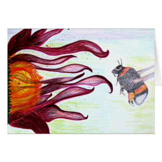 Greeting Card - Honey Bee Insect