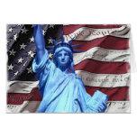 Greeting Card/Invitation Flag & Statue of Liberty