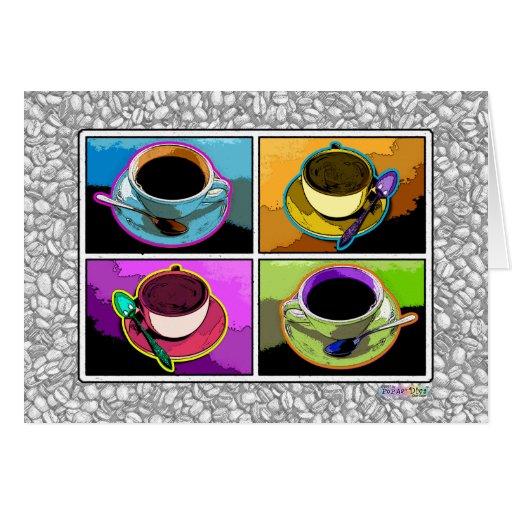 Greeting Card - Java Additions Pop Art